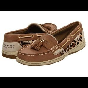 Sperry Tasselfish Linen Slip-On Loafer - Leopard